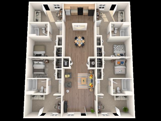 4 Lux Floor plan