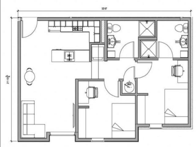 2 Bedroom Side Entry