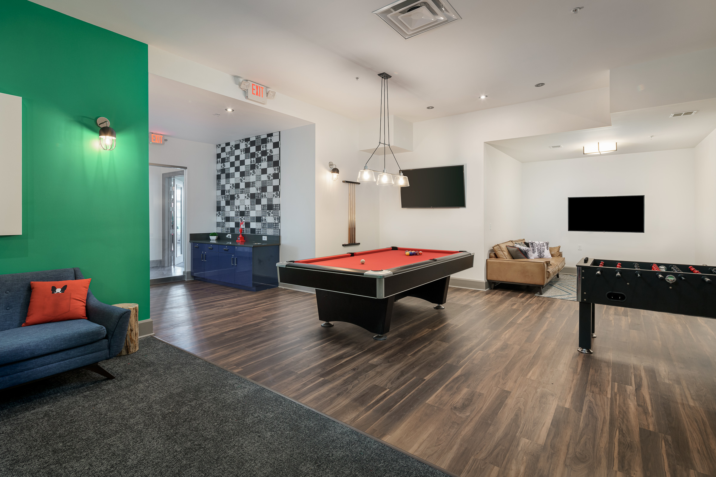 Resident Game Room   Apartments in Athens, OH   The Summit at Coates Run