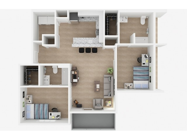 2x2 Floor Plans | Valley Falls | Apartments in Spartanburg, SC