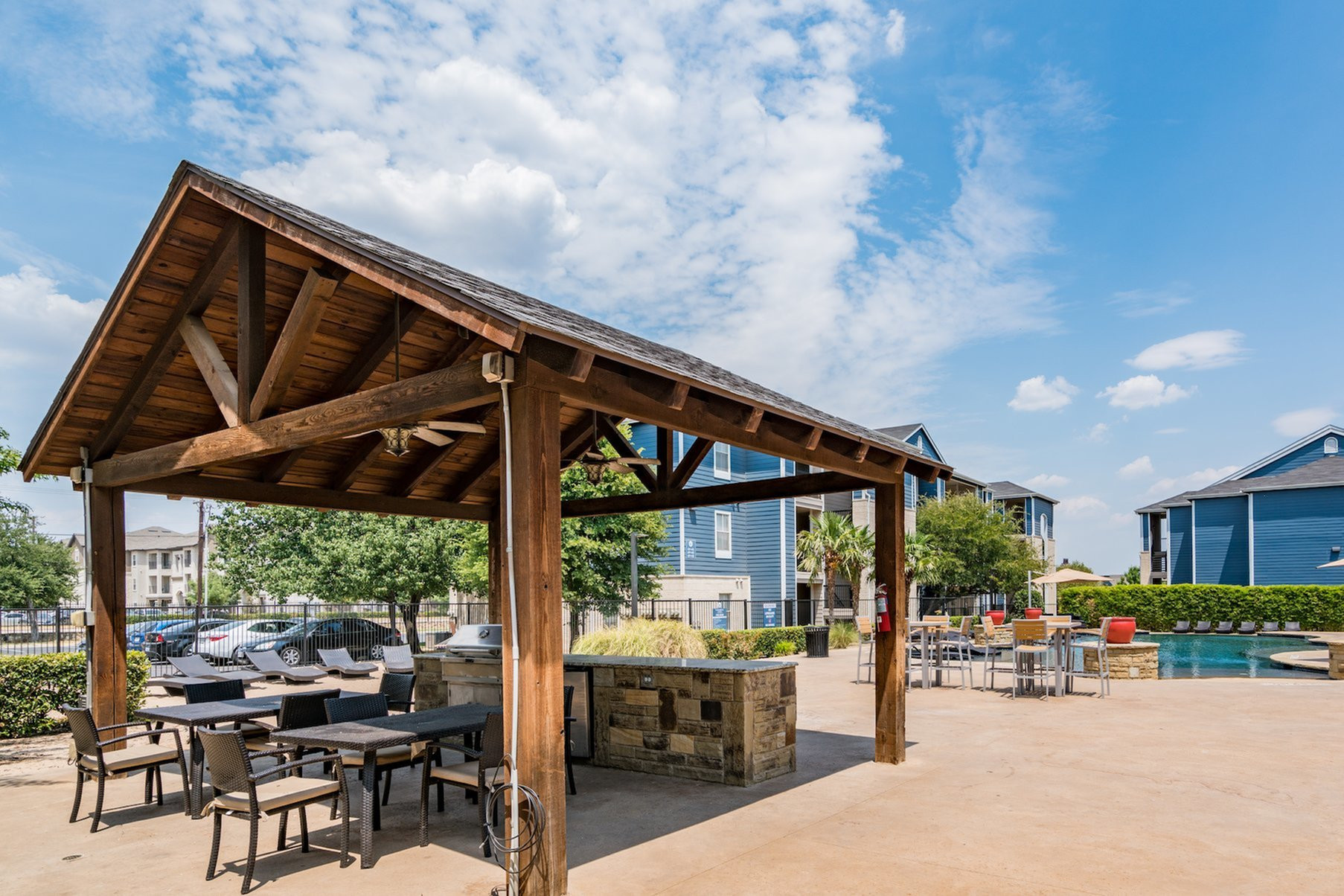 Community BBQ Grills | Denton TX Apartment For Rent | Castlerock at Denton