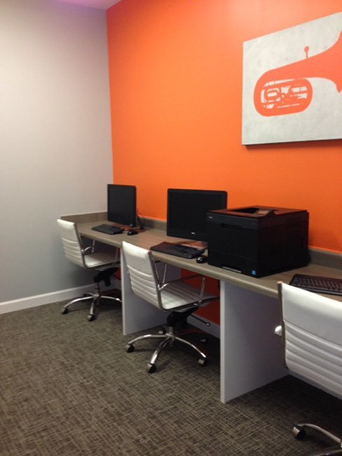 Resident Computer Lounge | Murfreesboro TN Apartment For Rent | Campus Crossing