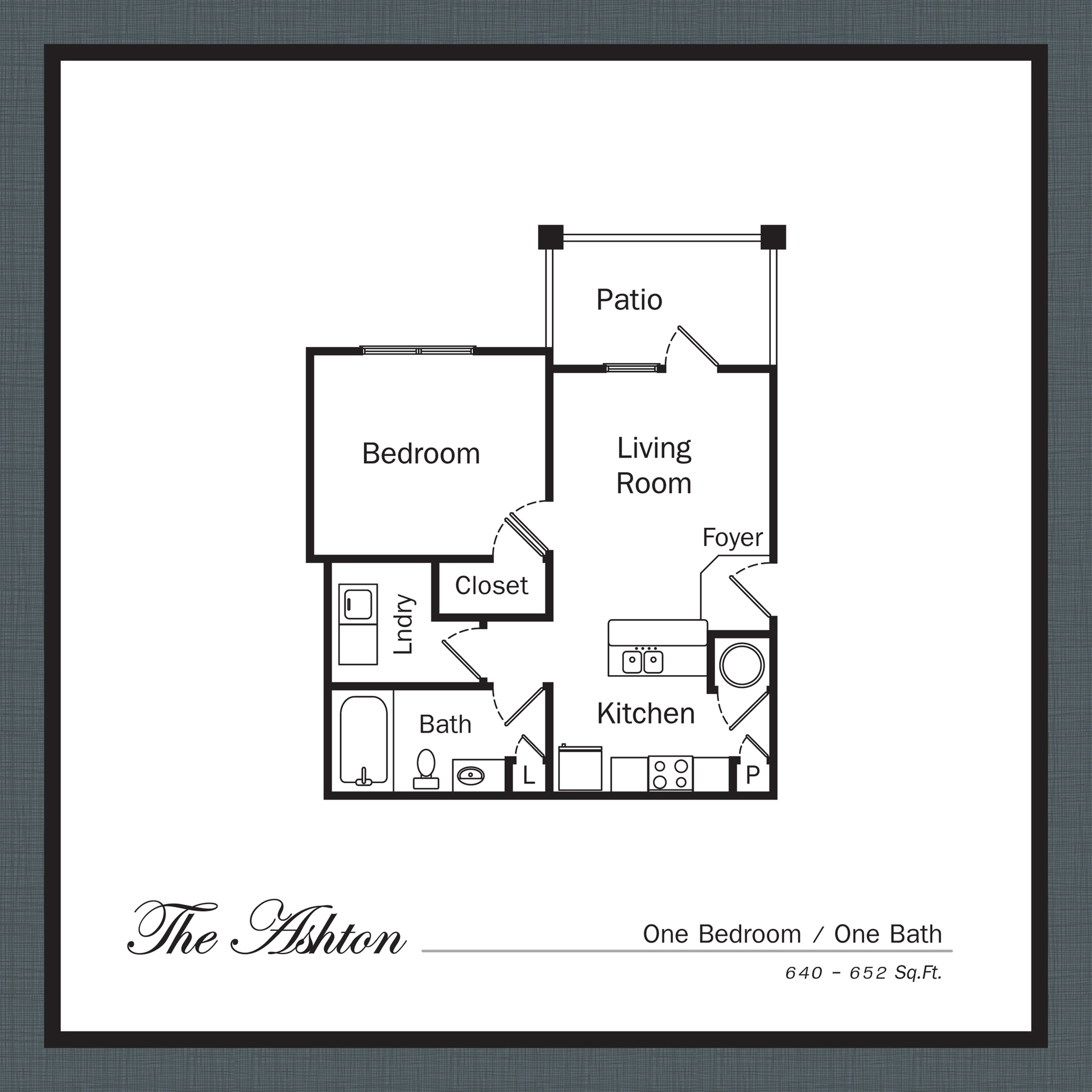 Floor Plan 1 | Apartments In Mooresville NC | Legacy Village