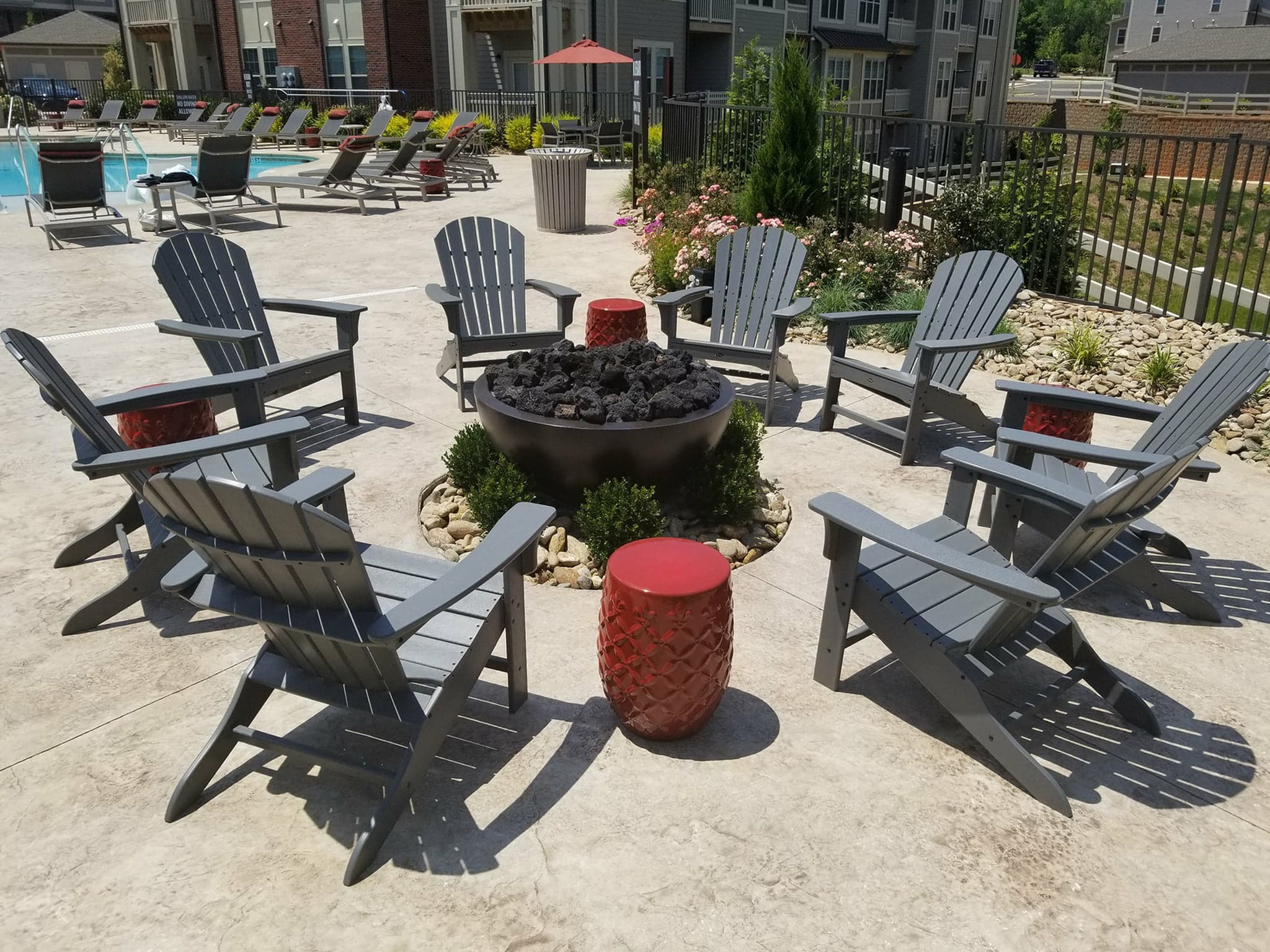 Resident Fire Pit | Apartments For Rent Fort Mill SC | Kingsley Apartments