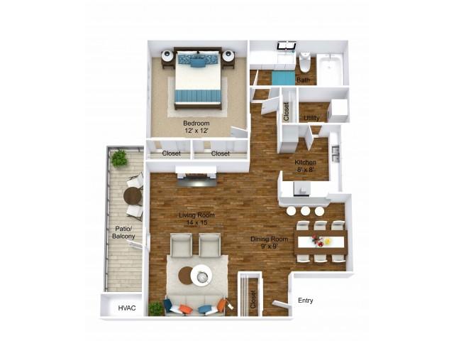 1 Bdrm Floor Plan | Apartments For Rent In Grand Rapids MI | Central Park Place