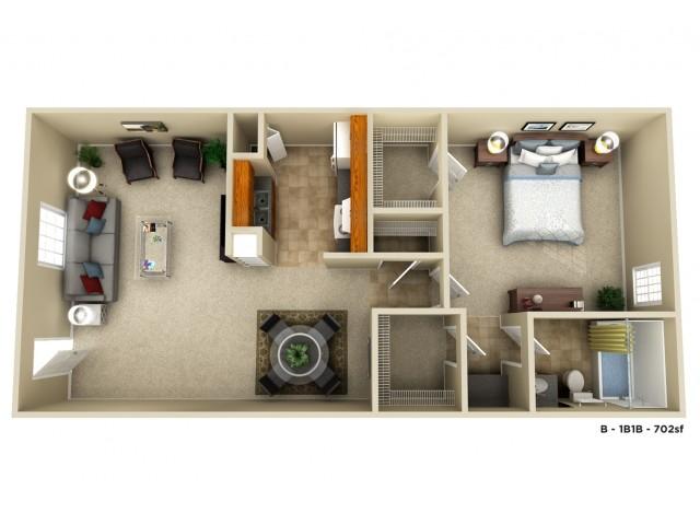 The Prytania Executive | 1 bed 1 bath | 702 sq ft
