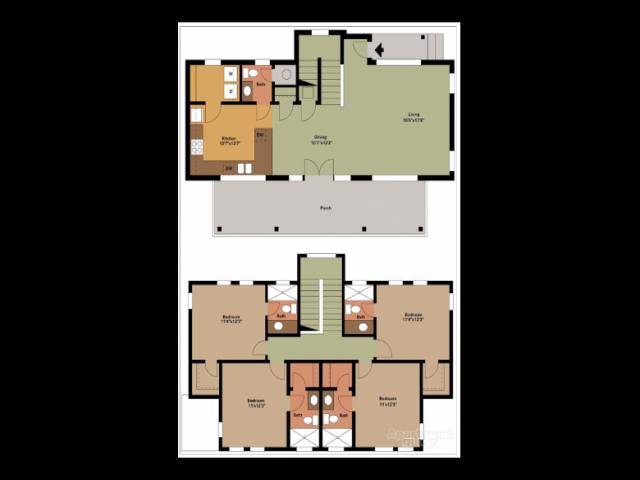 4 bedrooms /  4.5 baths
