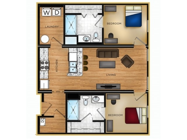 P1 2 bedroom