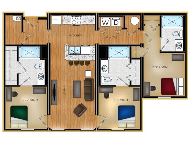 P1 3 bedroom