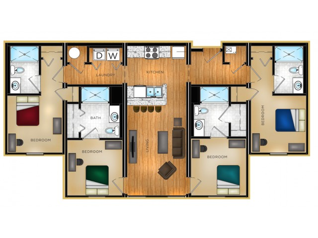P1 4 bedroom,