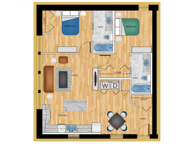 P2 Two bedroom
