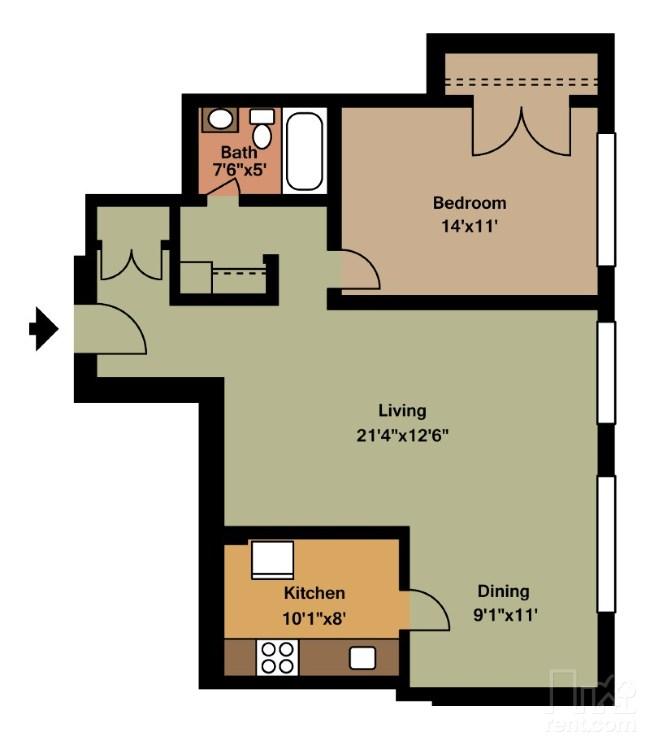 One Bedroom Apartments Arlington Tx: 1 Bed / 1 Bath Apartment In Arlington VA