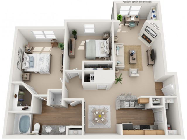 Stoneridge Apartments 2 Bedroom 1 Bathroom
