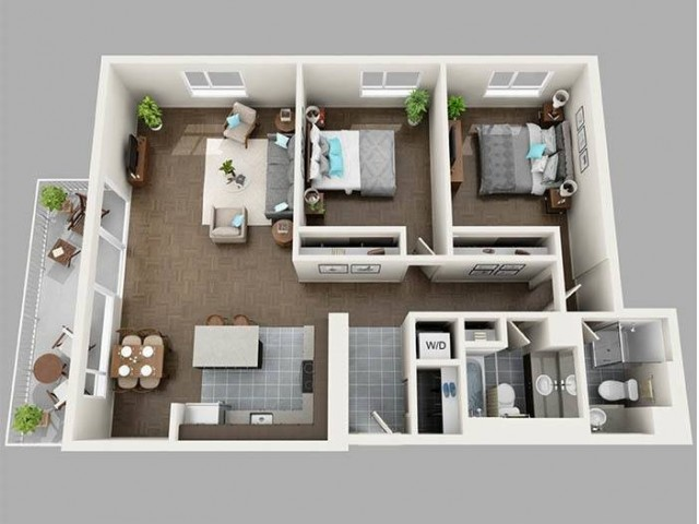 Two Bedroom North