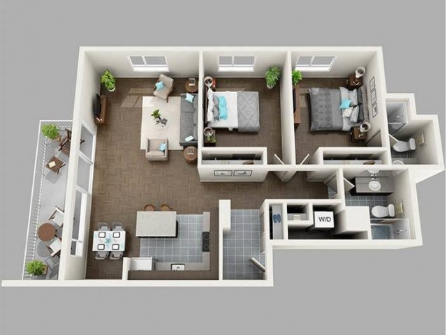 Two Bedroom South