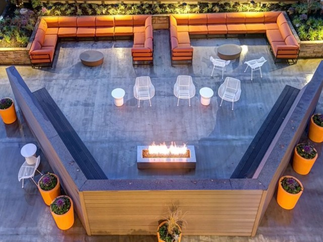 Image of Fire Pit with Lounge Seating for Panorama Apartments