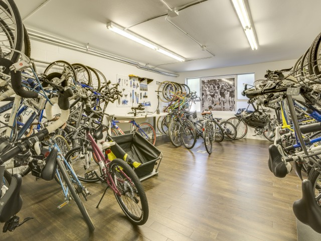 Image of Bike Storage and Repair Center for Panorama Apartments