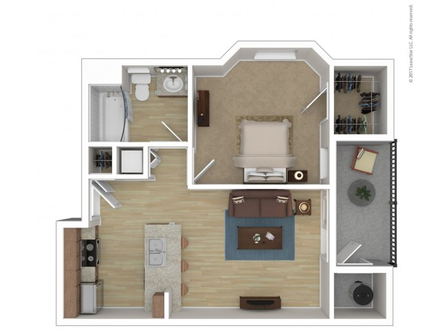 1 Bedroom Floor Plan | Apartments For Rent In Phoenix Az | Andante