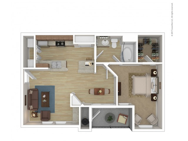 Floor Plan 1 | Apartments For Rent In Phoenix Az | Andante