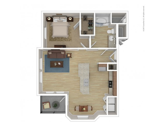 Floor Plan 2 | 2 Bedroom Apartments Phoenix Az | Andante