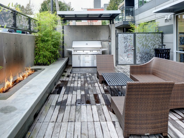 Outdoor Lounge BBQ Area