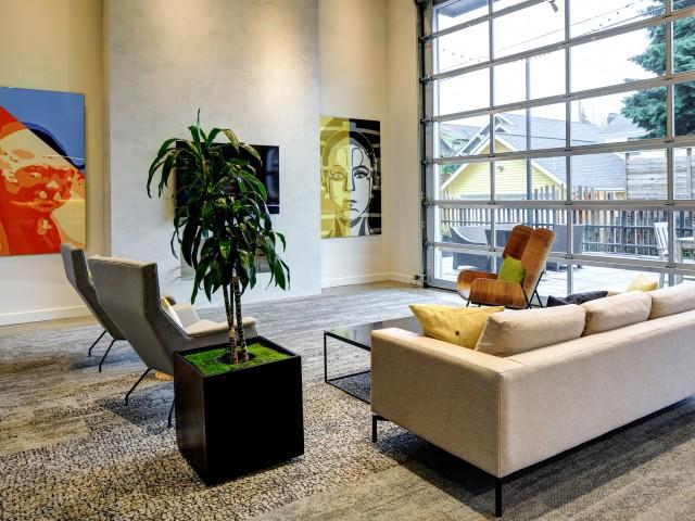 Resident Lounge Area | Janus Apartments