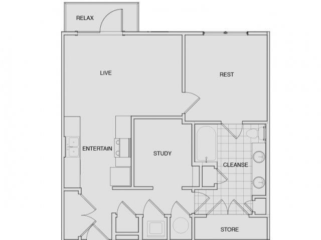 Floor Plan 5 | Best Apartments In Nashville | Note 16