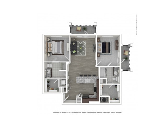 2 Bdrm Floor Plan | Apartments Near Nashville Tn | Duet