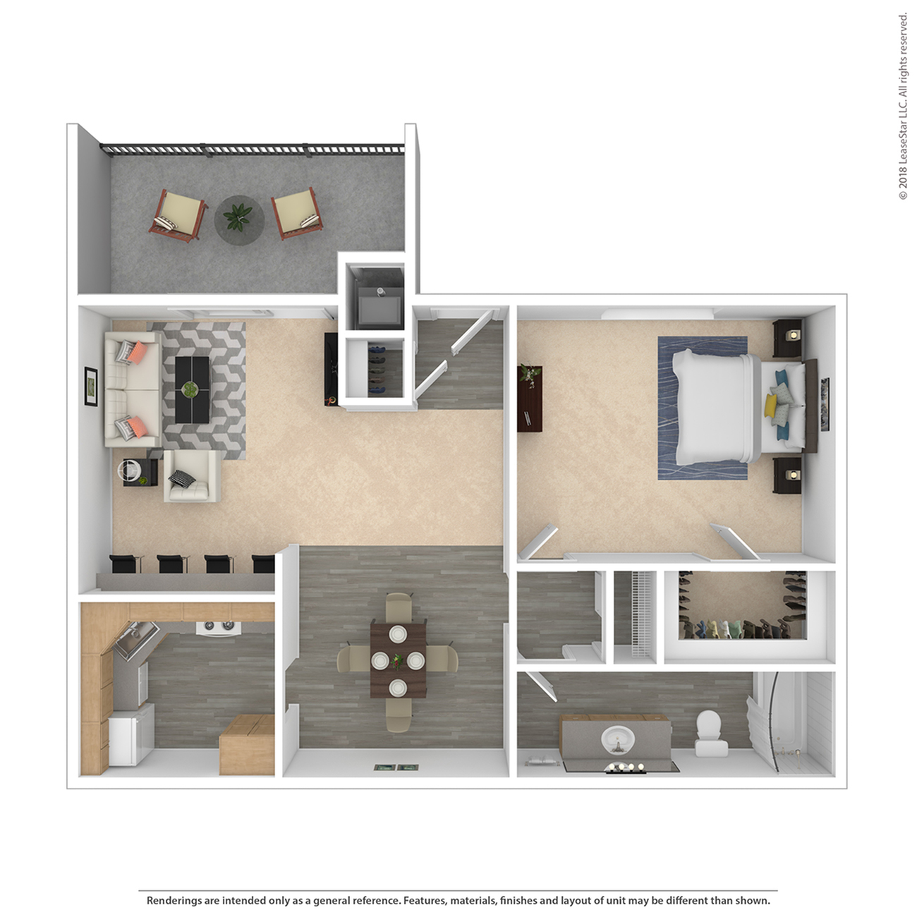 Floor Plan 1 | Federal Heights Colorado Apartments | The Lodge on 84th
