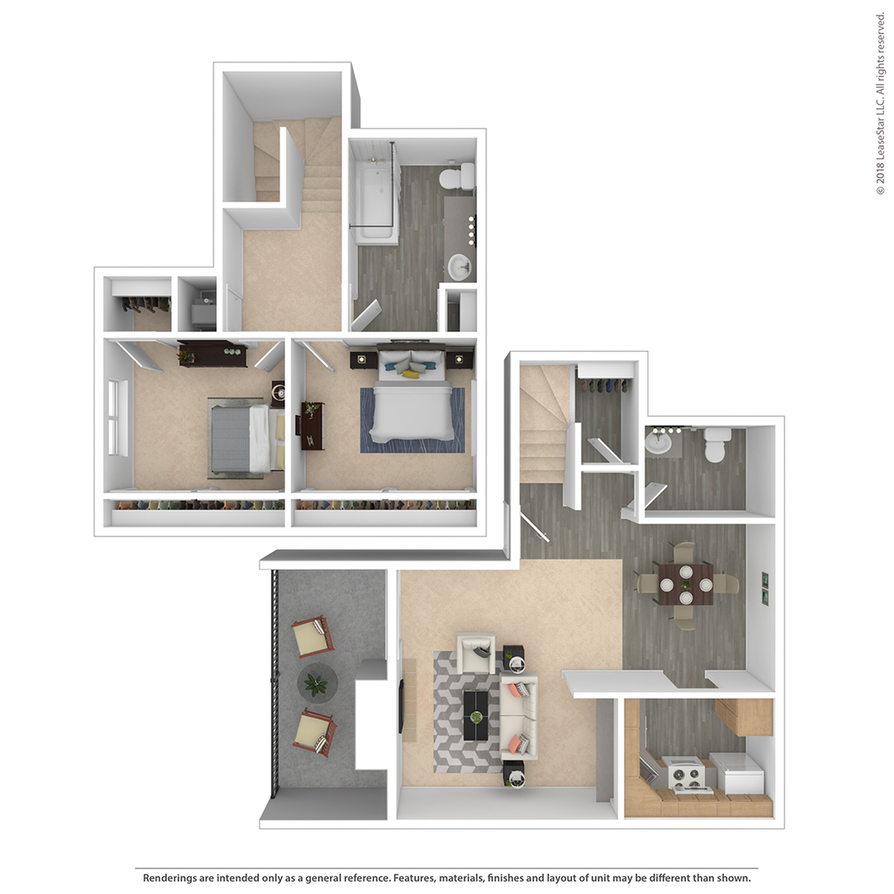 2 Bdrm Floor Plan | Apartments For Rent In The Denver Area | The Lodge on 84th