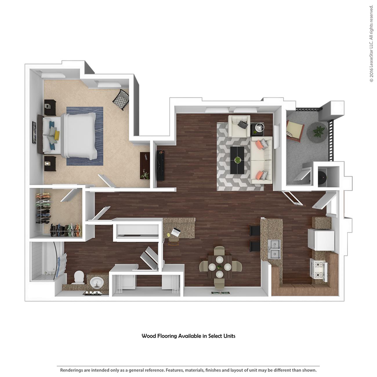 1 Bedroom Floor Plan   Apartments For Rent In Henderson Nv   Verona