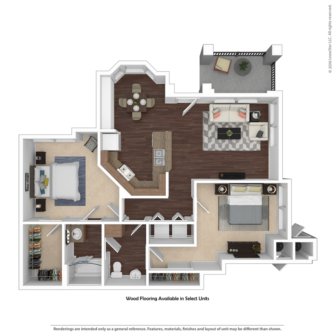 2 Bedroom Floor Plan | Apartments For Rent Henderson Nv | Verona