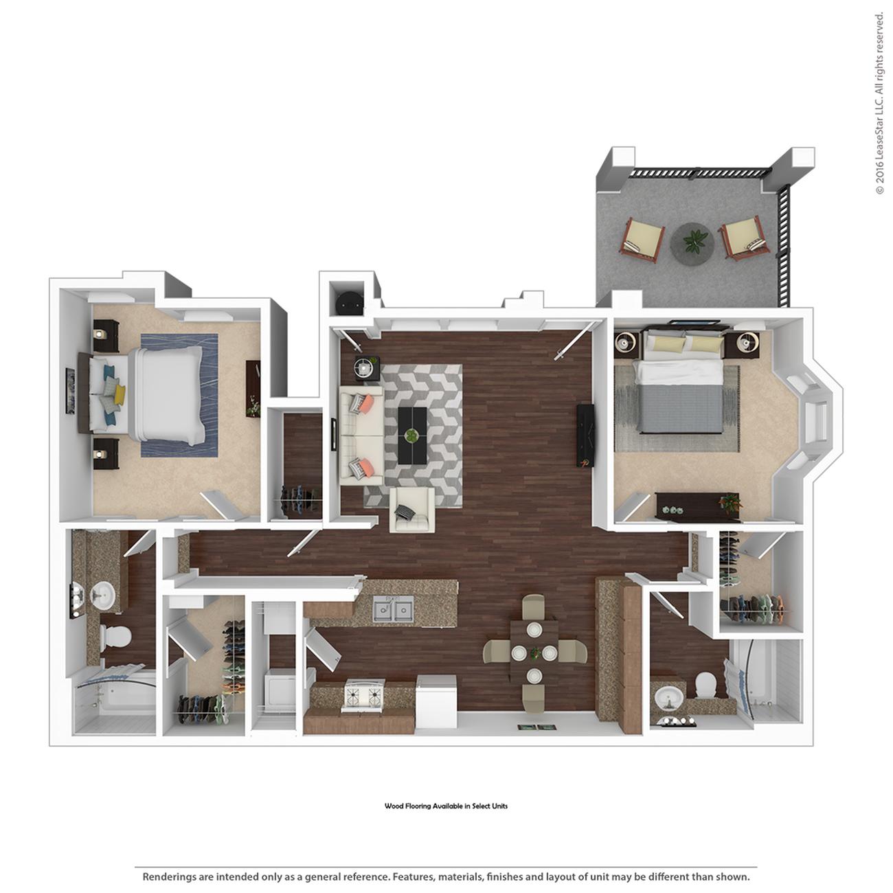 2 Bdrm Floor Plan   Pet Friendly Apartments In Henderson Nv   Verona