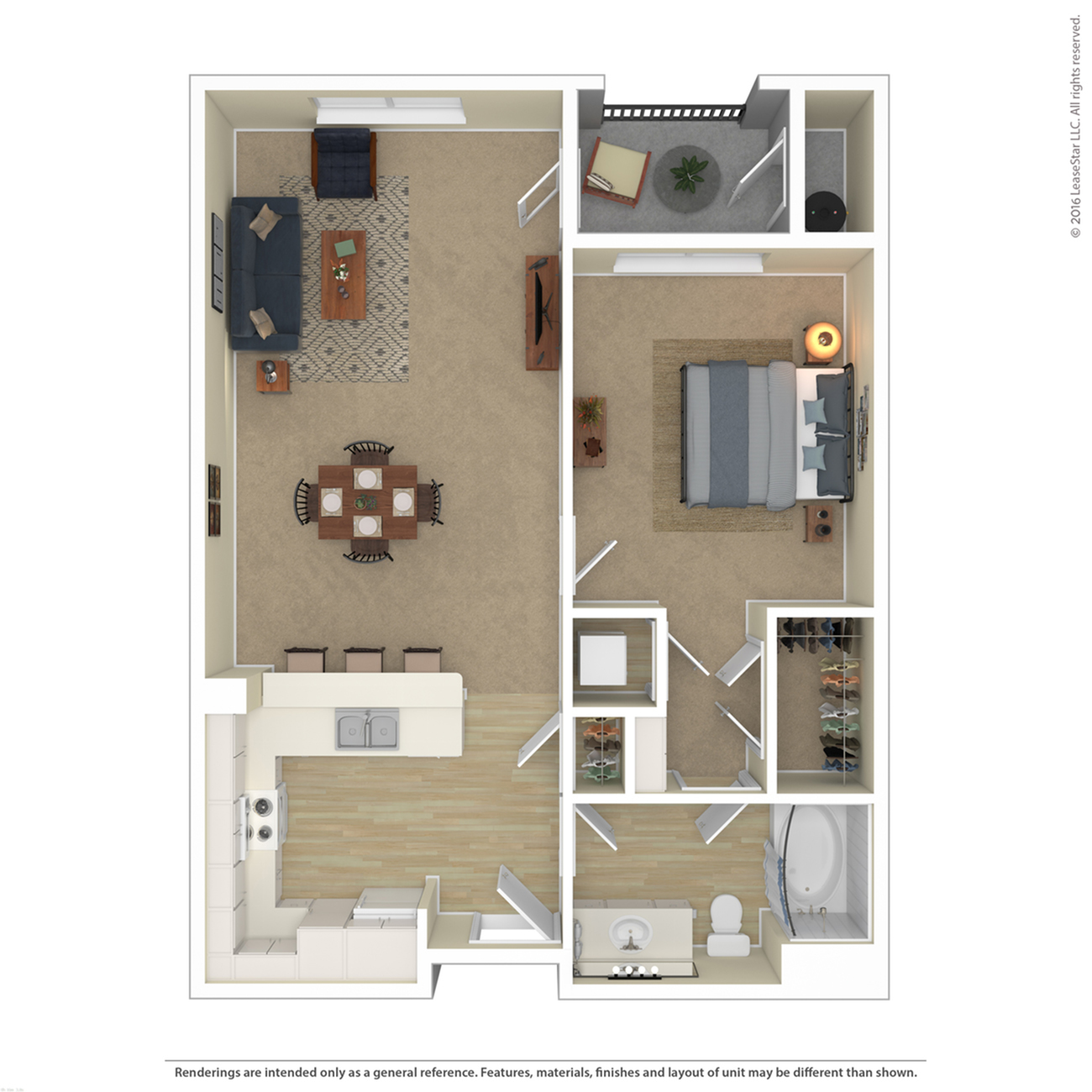 Floor Plan 3 | Best Apartments In North Las Vegas | Avanti
