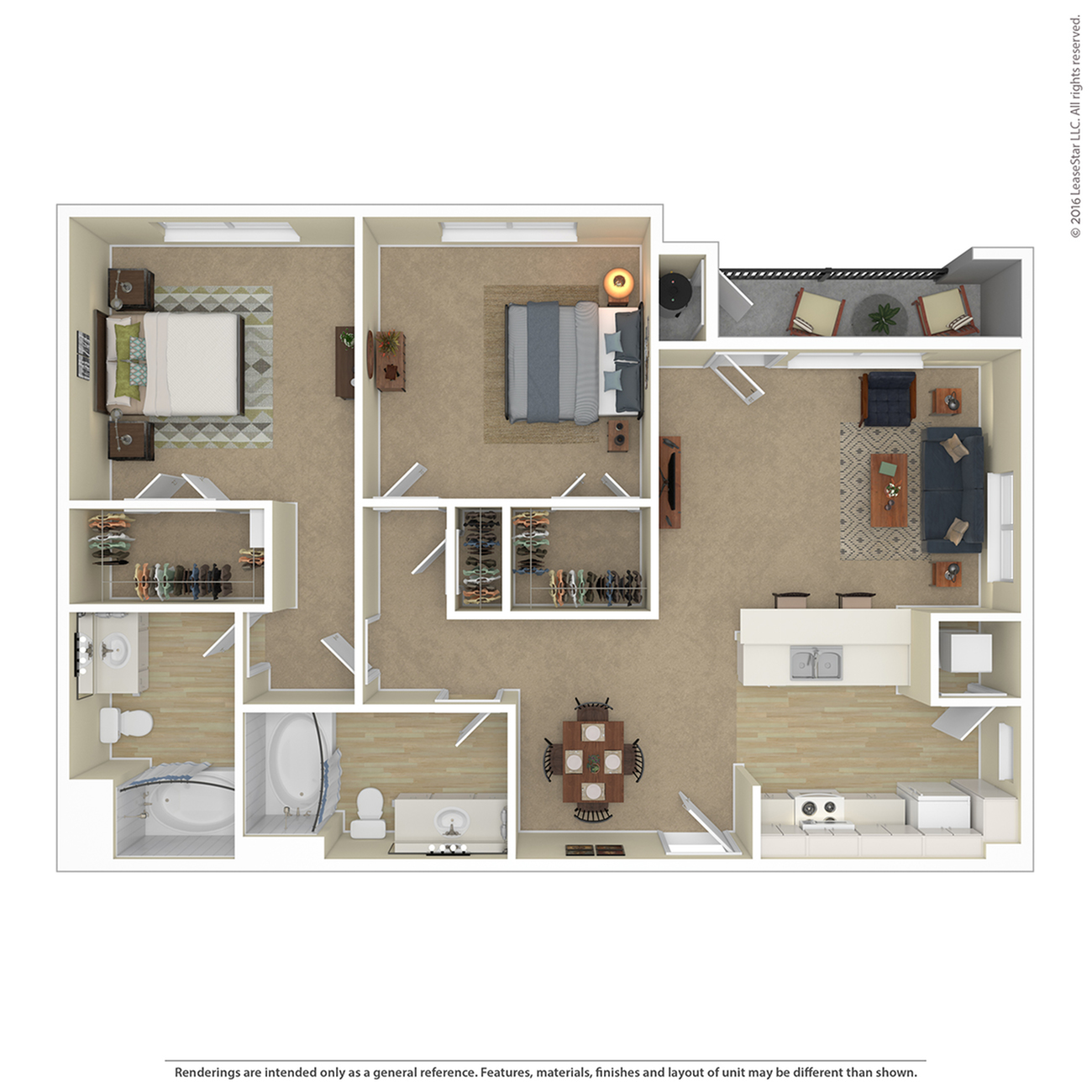 Floor Plan 10 | Apartments For Rent In North Las Vegas | Avanti