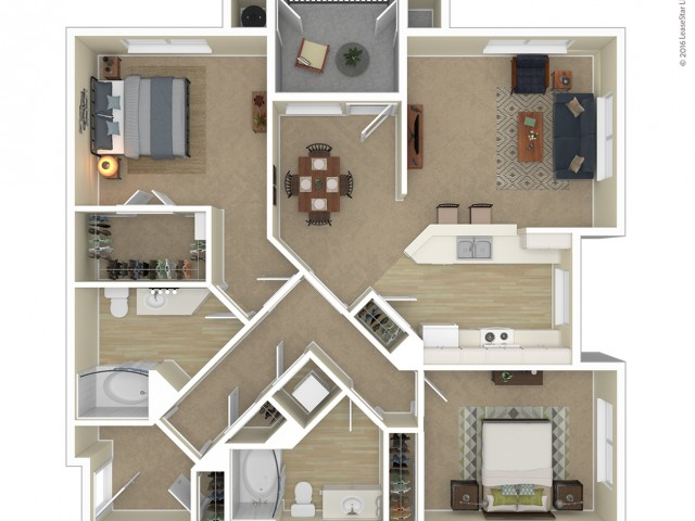 Floor Plan 11 | Apartments For Rent In Northwest Las Vegas | Avanti
