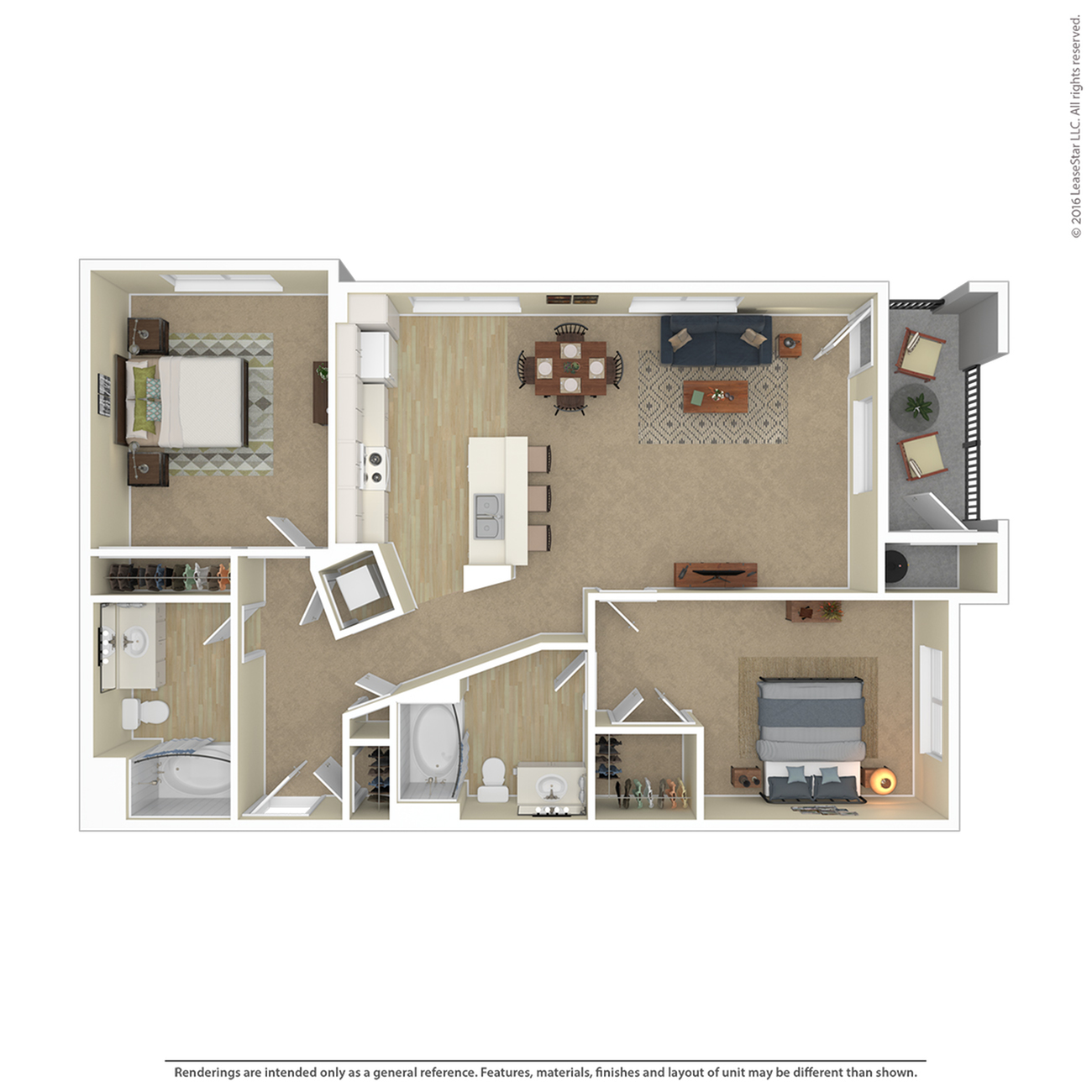 Floor Plan 12 | 2 Bedroom Apartments For Rent In Las Vegas Nv | Avanti