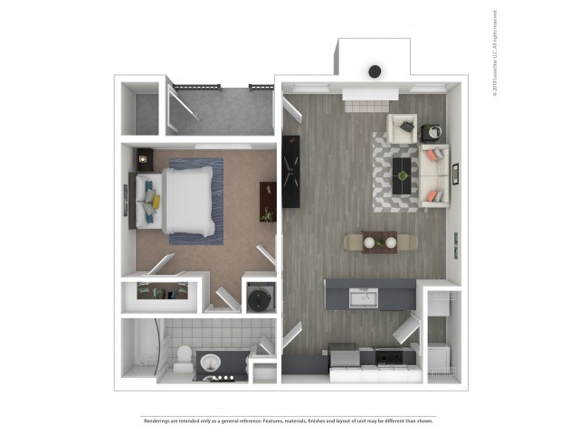 Floor Plan 1 | Apartments For Rent Near Nashville, TN | Hamptons at Woodland Pointe