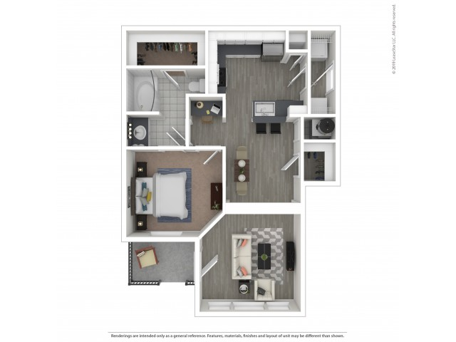 Floor Plan 2 | 3 Bedroom Apartments For Rent In Nashville, TN | Hamptons at Woodland Pointe