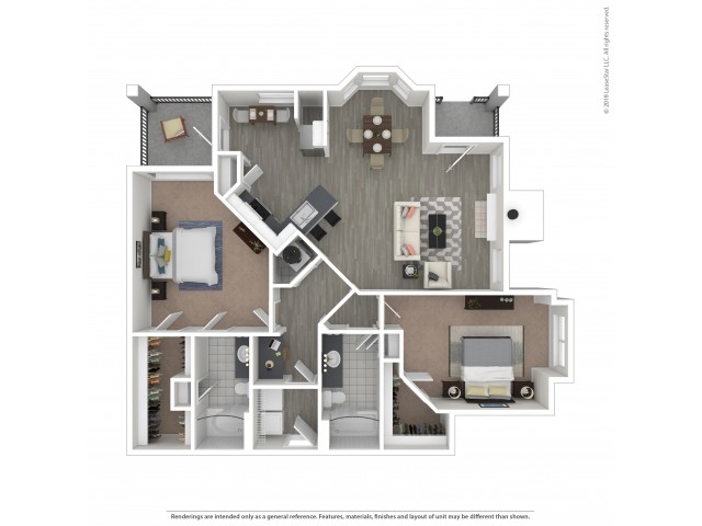 Floor Plan 5 | Apartments Near Nashville, TN Airport | Hamptons at Woodland Pointe