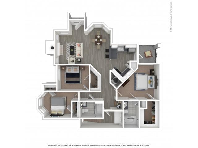 Floor Plan 6 | Apartments For Rent Near Nashville TN | Hamptons at Woodland Pointe