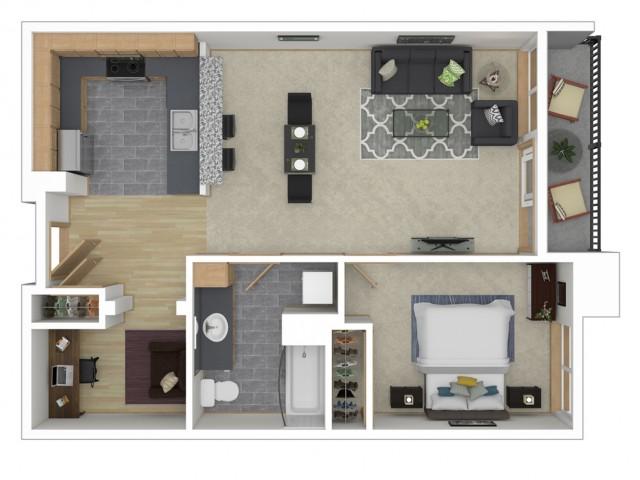 Floor Plan 7 | 2 Bedroom Apartments Seattle | 700 Broadway Apartments