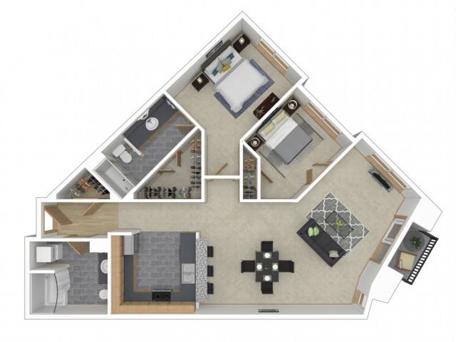 Floor Plan 13 | Apartments For Rent In Seattle | 700 Broadway Apartments