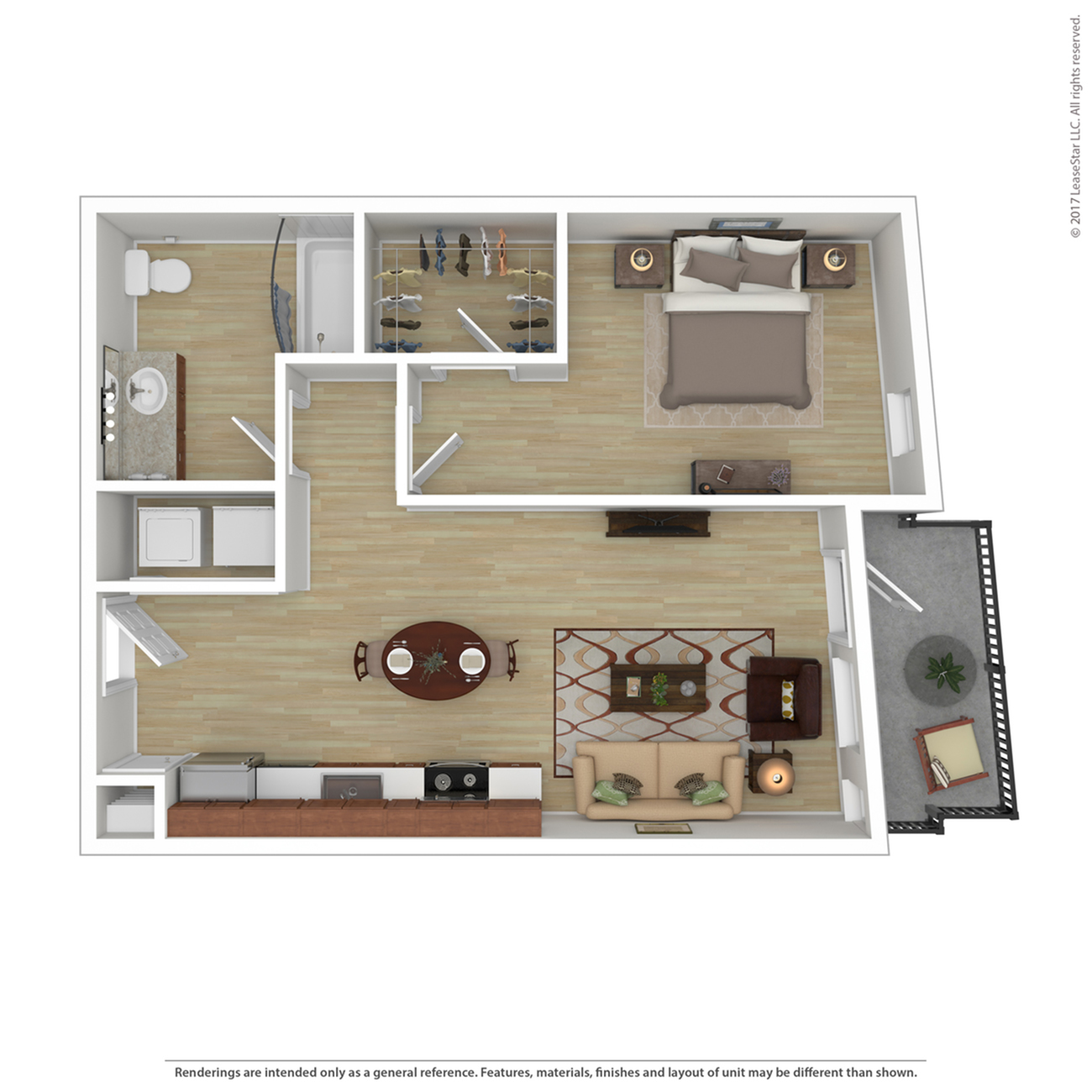 1 Bedroom Floor Plan | Apartments For Rent In Portland, OR | Tanner Flats Apartments