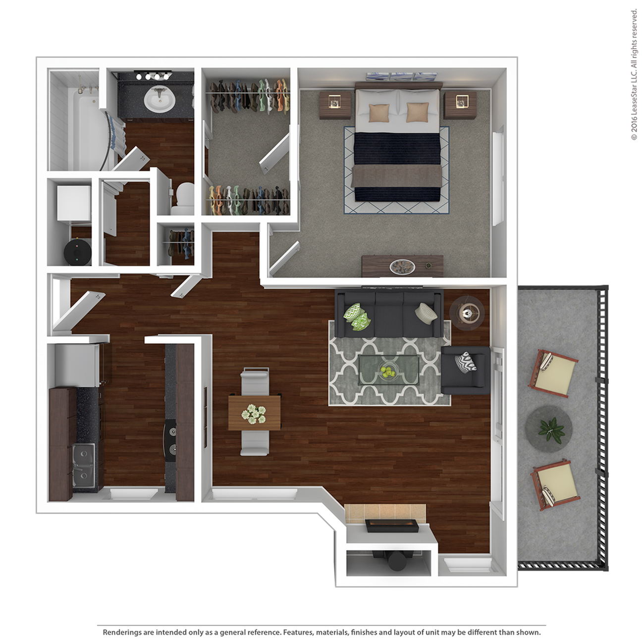 1 Bedroom Floor Plan | Apartments For Rent In Lake Oswego, OR| One Jefferson Apartments