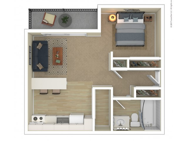 Studio Floor Plan | Apartments For Rent In Tacoma, WA | Terra Heights Apartments