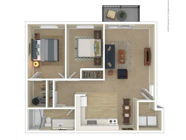 2 Bedroom Floor Plan | Apartments For Rent In Tacoma, WA | Terra Heights Apartments