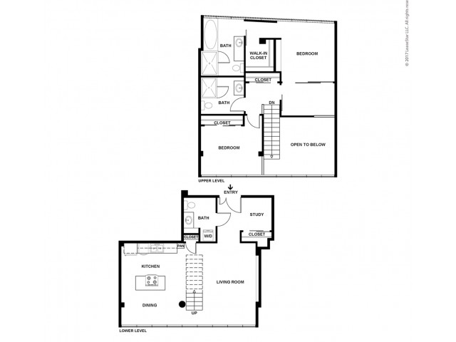2 Bedroom Floor Plan | Apartments For Rent In Bellevue, WA | Sylva on Main Apartments