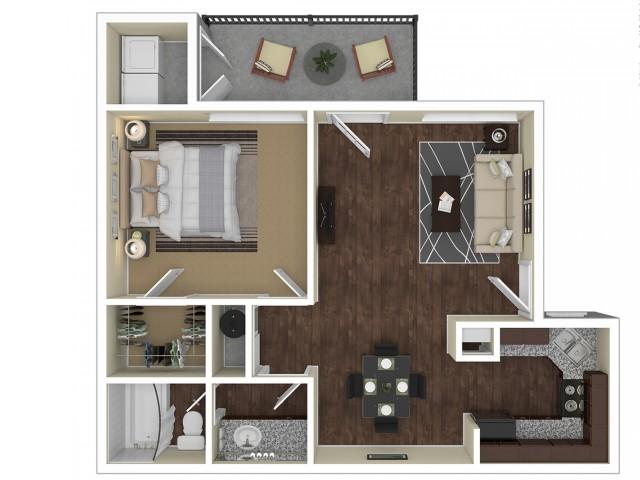 1 Bedroom Floor Plan   Apartments For Rent In Chandler, AZ   Arches at Hidden Creek Apartments