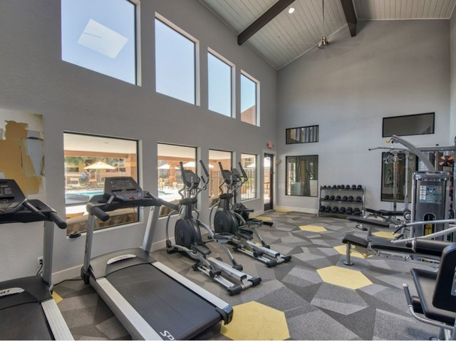 Image of 24-Hour Fitness Center with Free Weights for Canyon Creek Village Apartments